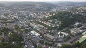 Aerial view over the city of Siegen. North Rhine-Westphalia, Germany