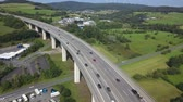 German autobahn highway viaduct bridge view from above Wideo