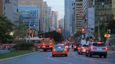 Toronto, Canada - Oct 20, 2017: Busy street in the city of Toronto at dusk. Province of Ontario, Canada