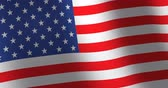 постоянный : Flag United States moving wind