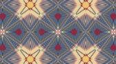 Kaleidoscope seamless loop sequence mandala patterns abstract multicolored motion graphics background. Ideal for yoga, clubs, shows Стоковые видеозаписи