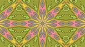 etnický : Kaleidoscope seamless loop sequence mandala patterns abstract multicolored motion graphics background. Ideal for yoga, clubs, shows Dostupné videozáznamy