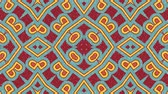 elmélkedés : Kaleidoscope seamless loop sequence mandala patterns abstract multicolored motion graphics background. Ideal for yoga, clubs, shows Stock mozgókép