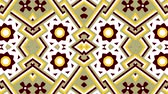 decorations : Kaleidoscope seamless loop sequence mandala patterns abstract multicolored motion graphics background. Ideal for yoga, clubs, shows Stock Footage