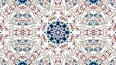 стильный : Kaleidoscope seamless loop sequence mandala patterns abstract multicolored motion graphics background. Ideal for yoga, clubs, shows Стоковые видеозаписи