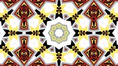 simetria : Kaleidoscope seamless loop sequence mandala patterns abstract multicolored motion graphics background. Ideal for yoga, clubs, shows Vídeos