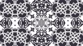 simetri : Kaleidoscope seamless loop sequence mandala patterns abstract multicolored motion graphics background. Ideal for yoga, clubs, shows Stok Video