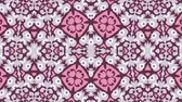 művészi : Kaleidoscope seamless loop sequence mandala patterns abstract multicolored motion graphics background. Ideal for yoga, clubs, shows Stock mozgókép