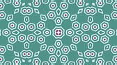 seqüência : Kaleidoscope seamless loop sequence mandala patterns abstract multicolored motion graphics background. Ideal for yoga, clubs, shows Stock Footage