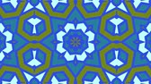 dizi : Kaleidoscope seamless loop sequence mandala patterns abstract multicolored motion graphics background. Ideal for yoga, clubs, shows Stok Video