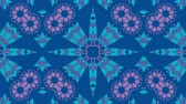 mozaika : Kaleidoscope seamless loop sequence mandala patterns abstract multicolored motion graphics background. Ideal for yoga, clubs, shows Dostupné videozáznamy