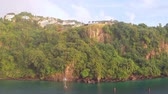 Steep coast of tropical island. Kingstown, Saint Vincent and Grenadines Vídeos