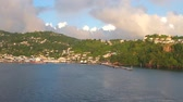 Port and city on mountainous coast. Kingstown, Saint Vincent and Grenadines