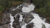noruega : Small falls on the hillside. Hellesylt, Norway