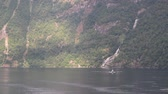 hillside : Steep coast and falls in Geirangerfjord. Stranda, Norway