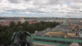 spirál : City roofs, city and clouds. St. Petersburg, Russia