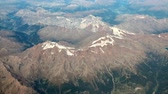 Aerial photograph, snow-covered mountain tops in summer. Austria