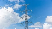 amper : high voltage pole on blue sky with cloud