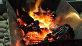 Fire of cooking stove Stock Footage