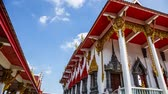 Time Lapse Wat Boonbangsing Temple of pathumtani Thailand Stock Footage