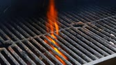 churrasco : BBQ Grill and glowing coals. You can see more BBQ, grilled food, fire