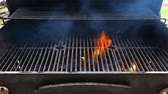 open fire : BBQ Grill and glowing coals. You can see more BBQ, grilled food, fire