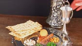 matzo : Pesach Still-life with wine and matzoh jewish passover bread