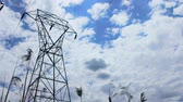 engenharia : 4K Power Line Tower Cloud