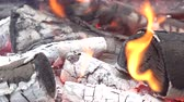 umírající : Decaying coals for cooking and a background