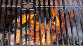 бифштекс : BBQ Grill and glowing coals. You can see more BBQ, grilled food, fire