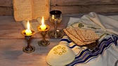 okładka : Jewish Kiddush ceremony of welcoming the Saturday Shabbat or holiday Wideo