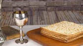 matzo : Passover Seder Plate with The seventh symbolic item used during the seder meal on passover Jewish holiday.