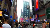 New York, USA - 04 july, 2018: Times Square, featured with Broadway Theaters and animated LED signs, is a symbol of New York City and the United States,