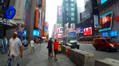 New York, USA - 04 july, 2018: Times Square, a busy tourist intersection of commerce Advertisements and a famous street of New York City