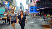 vezes : New York, USA - 04 july, 2018: Busy streets and sidewalks of New York City, New York, USA