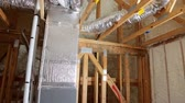 termal insulation installing at the attic insulation the house