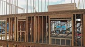переделывать : Abstract of Wood Home Framing at Construction Site.