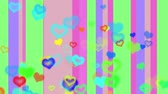 texture : pastel colored line hearts
