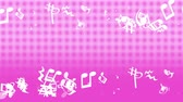 graphic particles shaped musical notes 動画素材