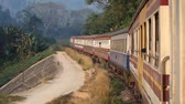 Thailand railway Stok Video