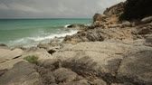 Beautiful Mediterranean beach of Sardinia. Taken over in summer. A beautiful panorama of amazing beauty. Stock mozgókép