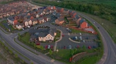 chaine alimentaire : ROTHERHAM, UK - 15TH MAY 2019: Aerial Footage of The Winter Green - Marstons Pub - In Waverley, Rotherham, taken at sunset with a drone.