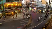 Ho Chi Minh-City, March 2014 timelapse showing busy traffic and streetlife on BUI VIEN Street in District 1 of Ho Chi Minh City