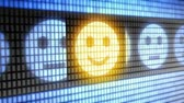 Smile icon on screen. Looping.