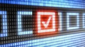 Checkmark on screen. Looping.