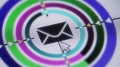 carimbo postal : Press e-mail icon on the screen Vídeos