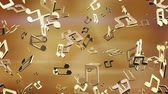 Flying musical notes. Looping. Alpha channel is included. Stock Footage