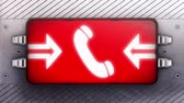 aviso : Call icon on the signboard. Looping.