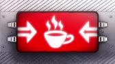 regimen : Coffee icon on the signboard. Looping.