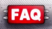 questões : FAQ on a signboard. Looping. Stock Footage